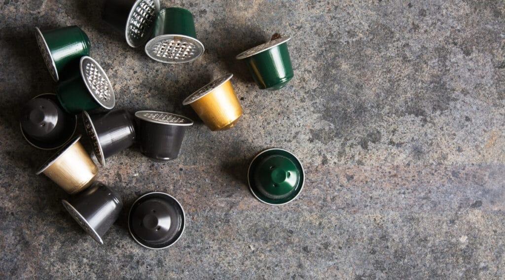 Nespresso capsules to brew rich espresso.