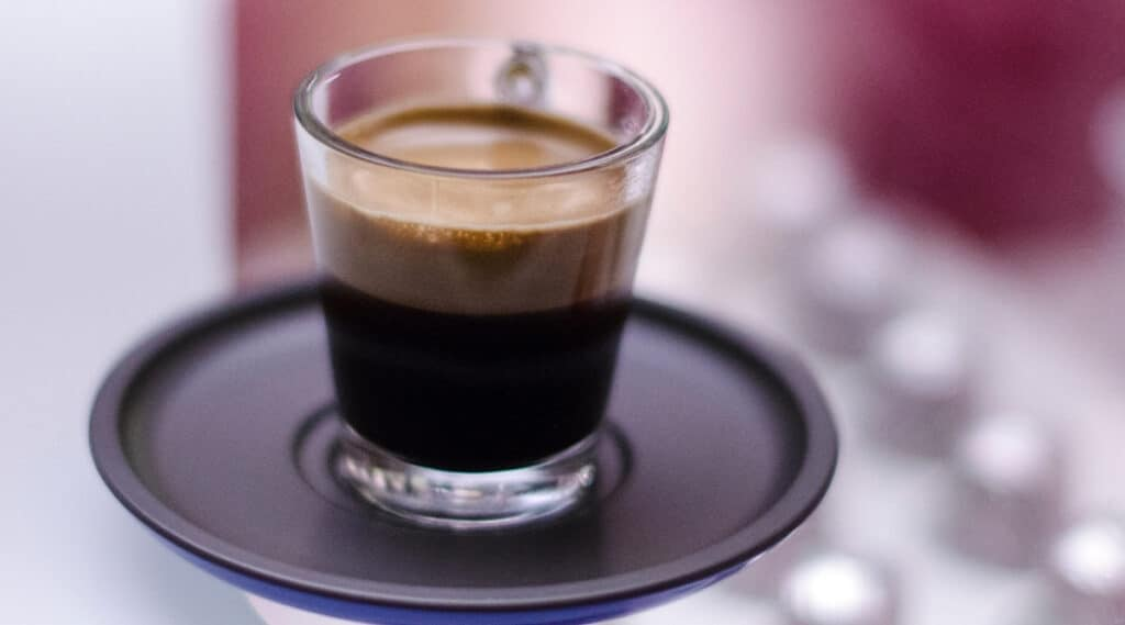 Rich flavorful espresso ready to be served.