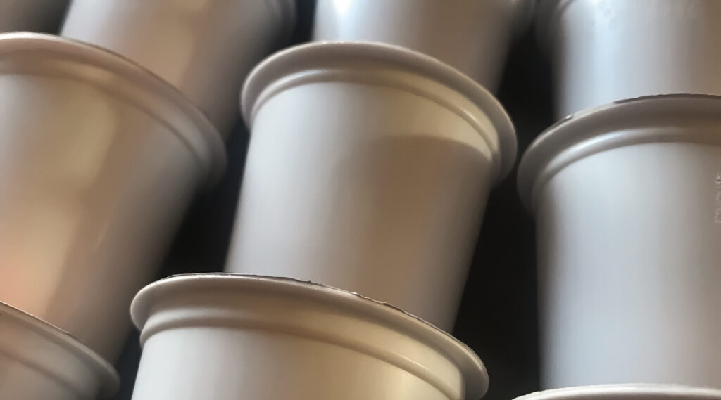 Large stack of Keurig K-Cups ready to be brewed.