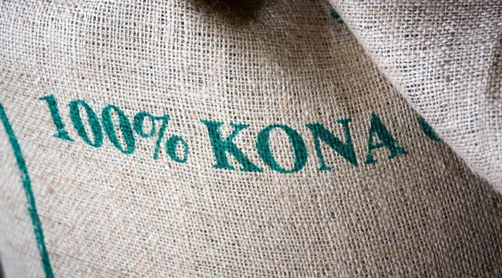 100% Kona Coffee beans.