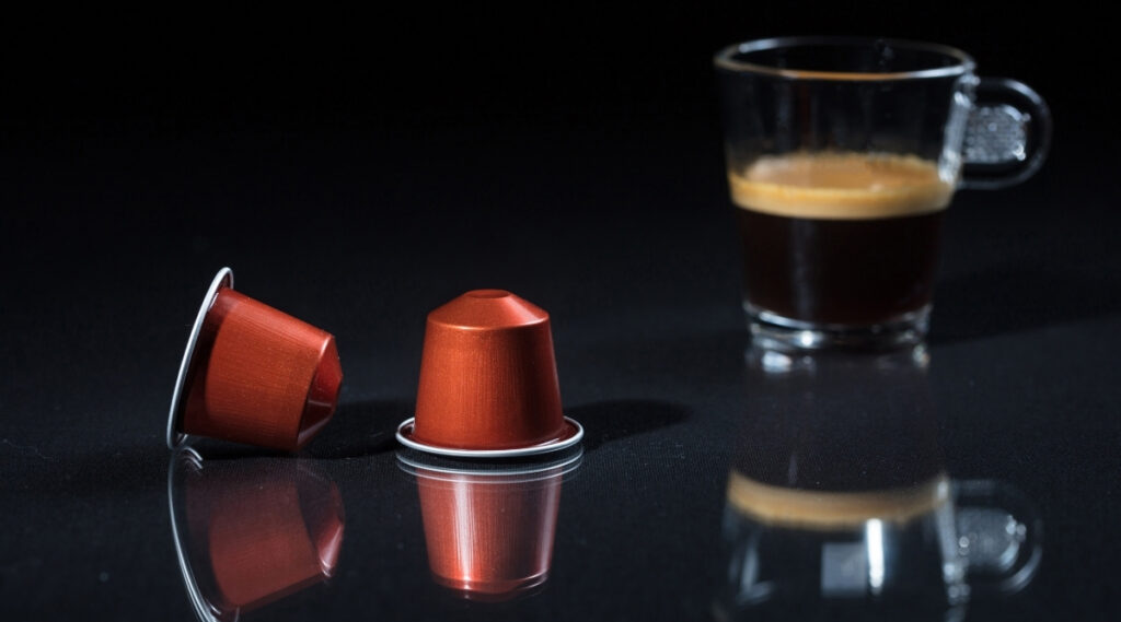Nespresso capsules used to brew espresso.
