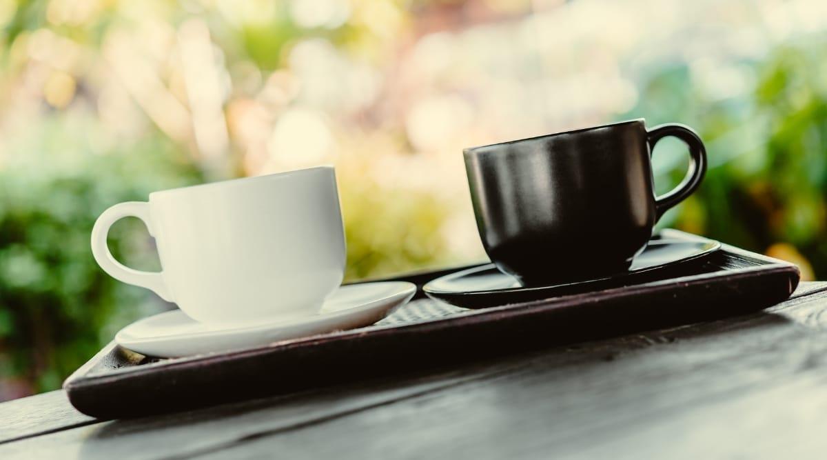 Coffee brewed by Keurig K-Slim and K-Classic side by side.