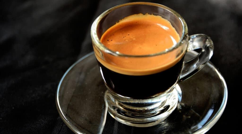 A shot of espresso.