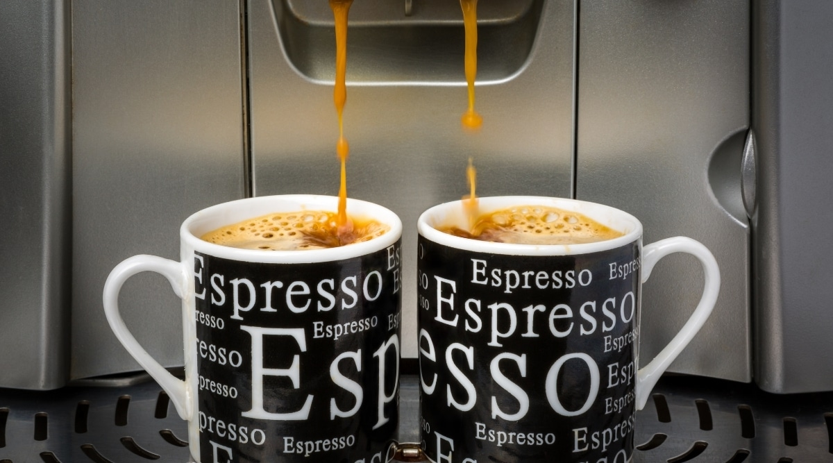 Nespresso machines making espresso