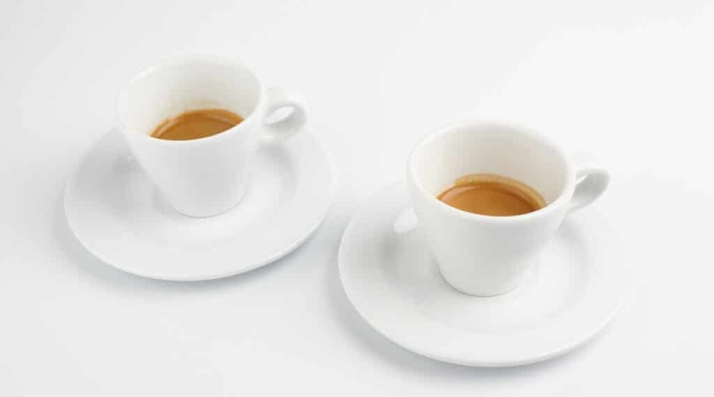 Espresso made by Nespresso's VertuoLine and Original.