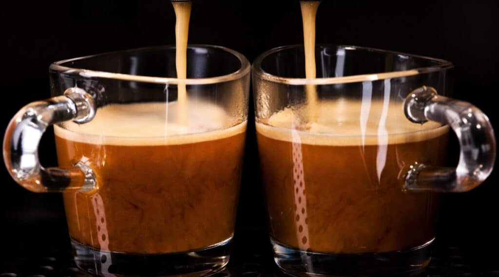Espresso brewed by both the Original and VertuoLine.