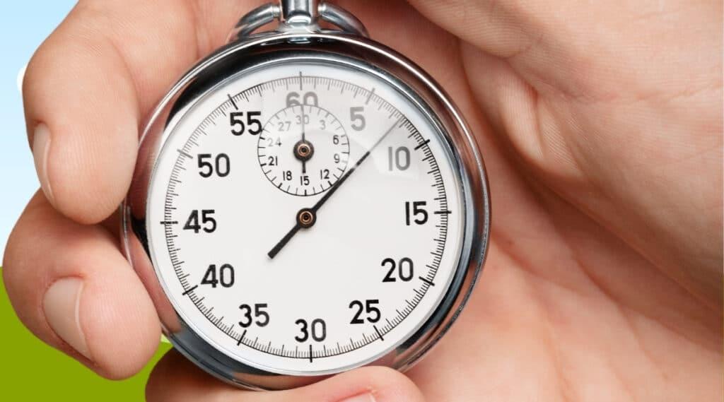 Stopwatch to show brewing speed of De'Longhi EC702.
