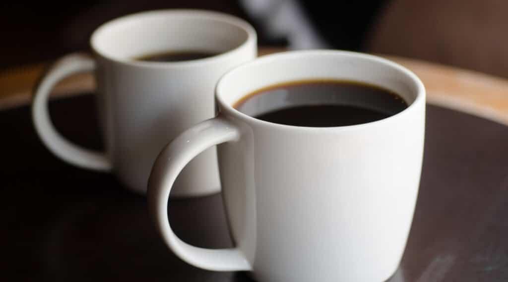 Freshly brewed coffee made by Ninja Coffee Bar.