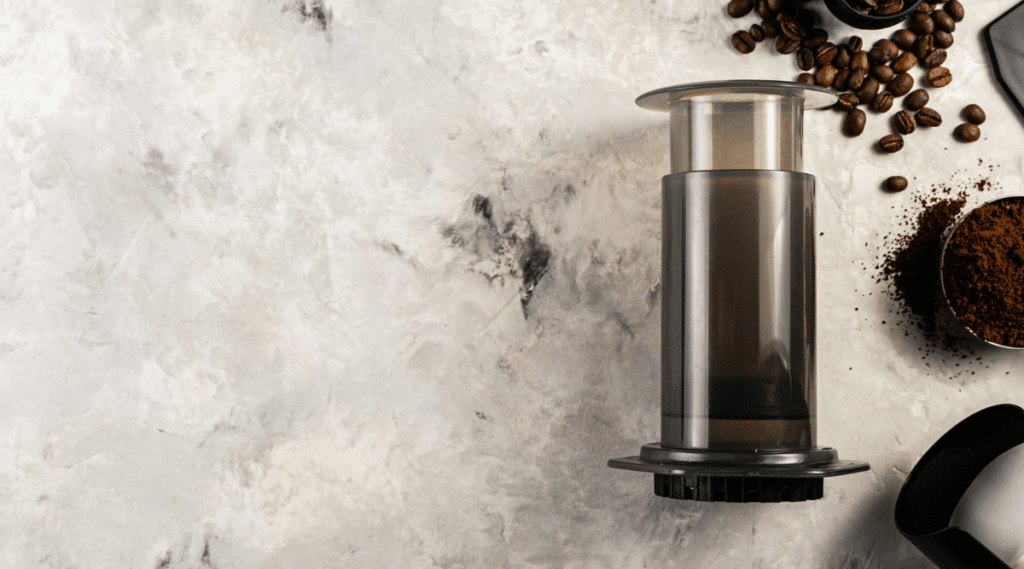 The Aeropress can make a delicious cup of coffee in a short amount of time.