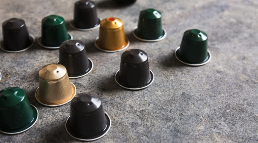 Nespresso capsules ready to be brewed.