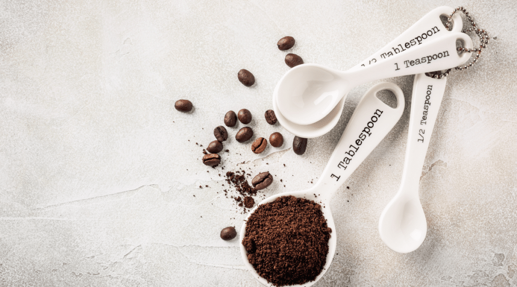 Typically a coarse grind is used when brewing coffee with a french press.