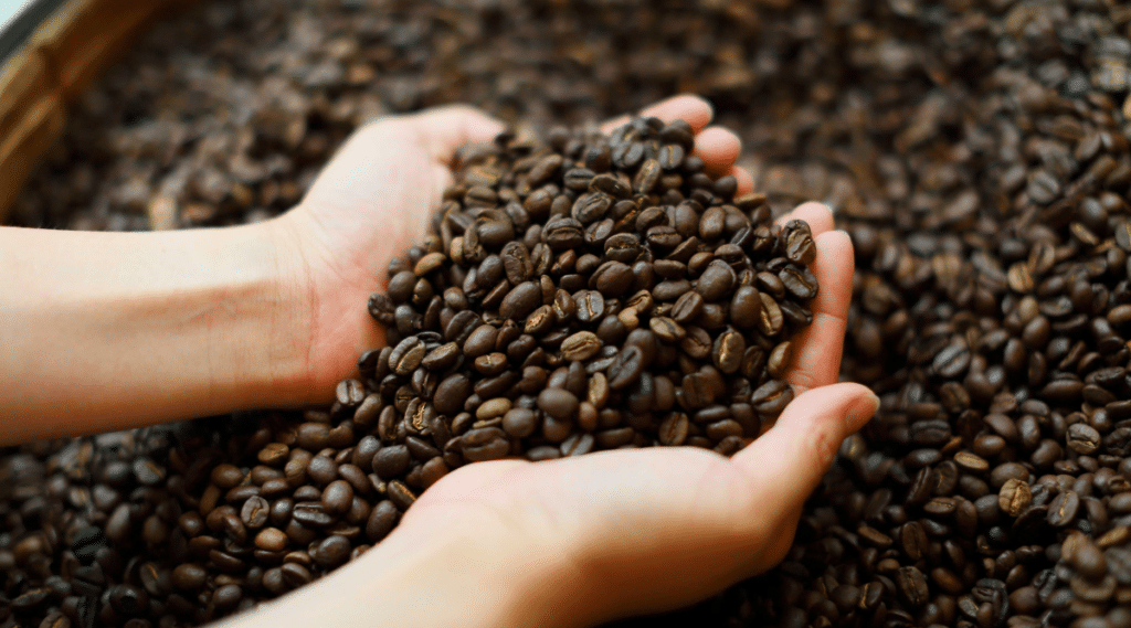 Coffee is made using a specific growing and roasting process.
