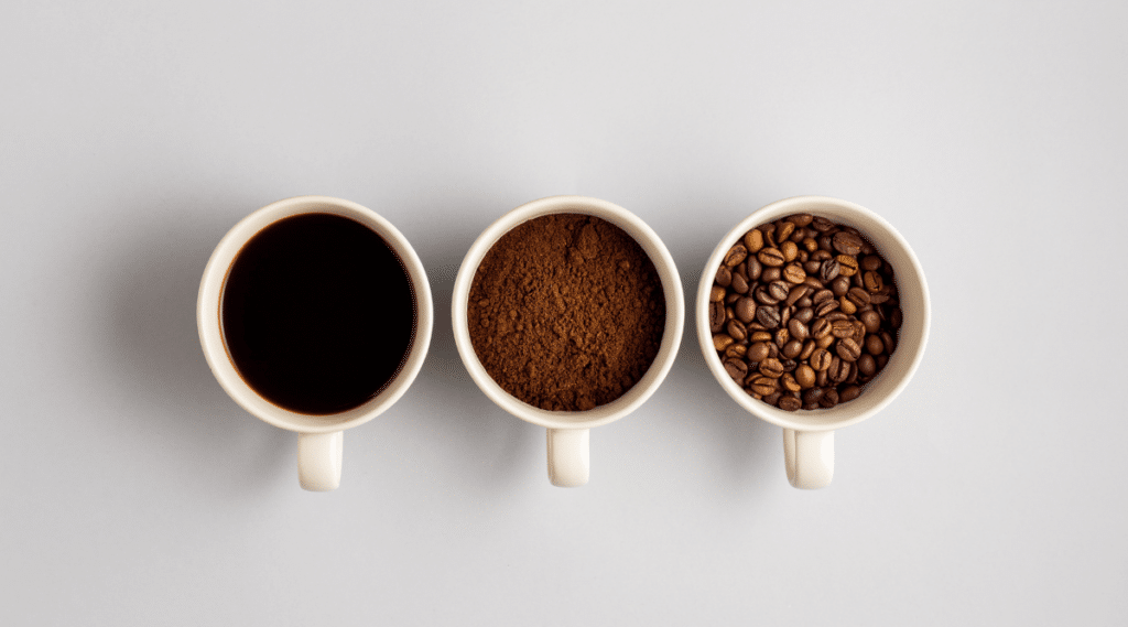 Dark roast coffee beans are a great choice when making an espresso drink.